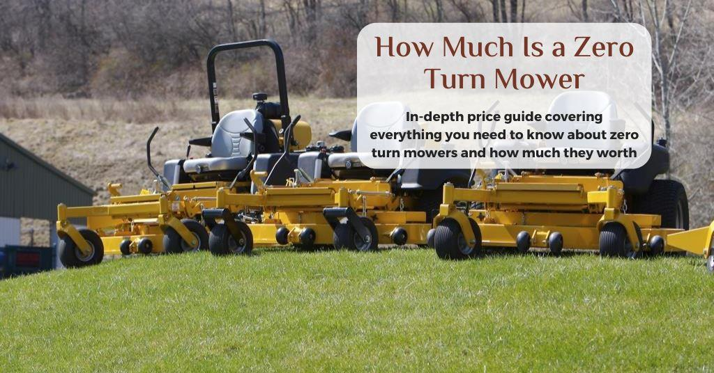 how much is a zero turn mower