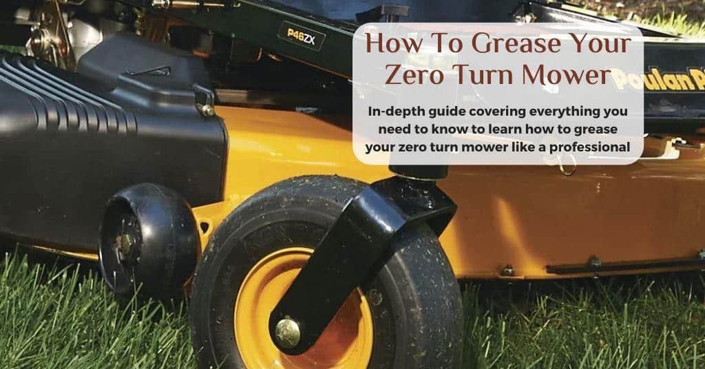 how to grease a zero turn mower